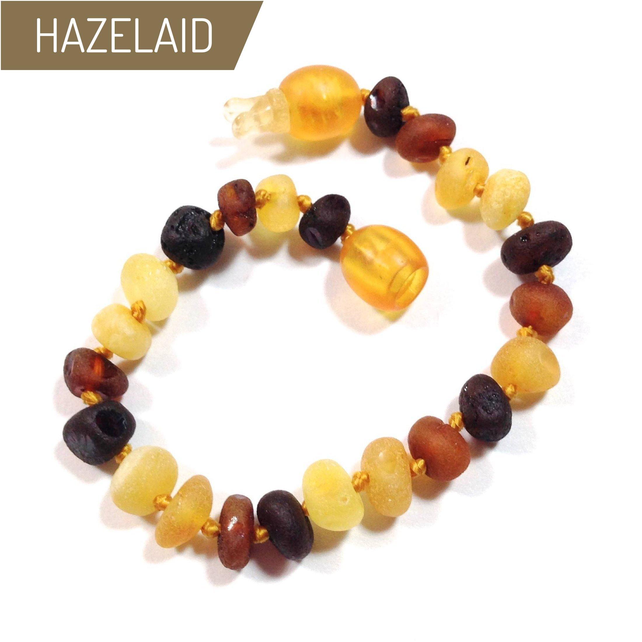 Hazelaid (TM) 5.5'' Pop-Clasp Baltic Amber Multicolored Semi-Polish Bracelet