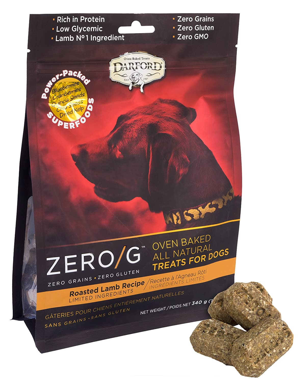 Darford 3460 Zero/G Roasted Lamb Recipe Dog Treats 12Oz Pouch, Regular Size/12 Oz