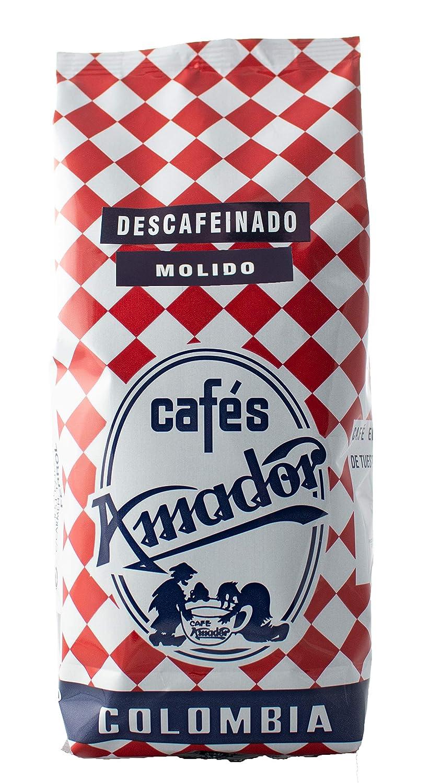 Cafés AMADOR - Café DESCAFEINADO MOLIDO GRUESO Natural Arábica ...