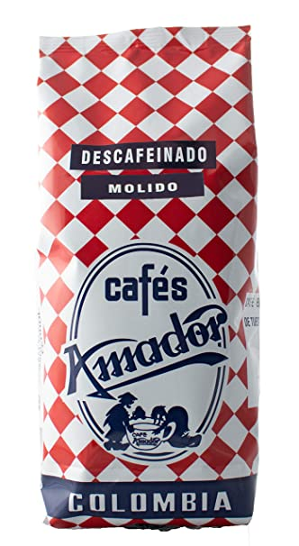 Cafés AMADOR - Café DESCAFEINADO MOLIDO FINO Natural Arábica ...