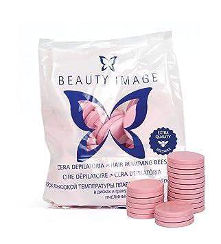 Beauty image - Cera depilatoria caliente, 1 kilo, color rosa: Amazon.es: Belleza