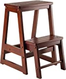 Winsome Wood Step Stool Antique Walnut  sc 1 st  Amazon.com : conductor step stool - islam-shia.org