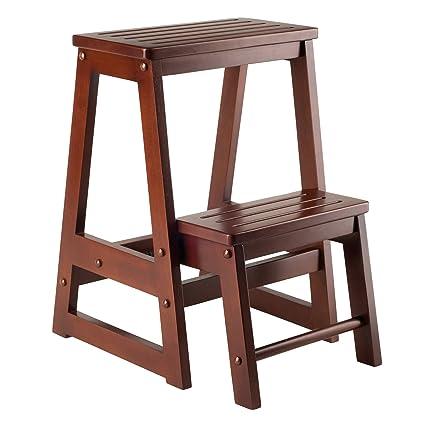 Phenomenal Winsome Wood Step Stool Antique Walnut Ibusinesslaw Wood Chair Design Ideas Ibusinesslaworg