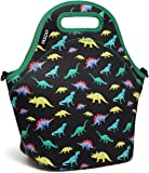 Lunch Box Bag for Boys,Vaschy Neoprene Insulated Lunch Tote with Detachable Adjustable Shoulder Strap in Cute Dinosaur