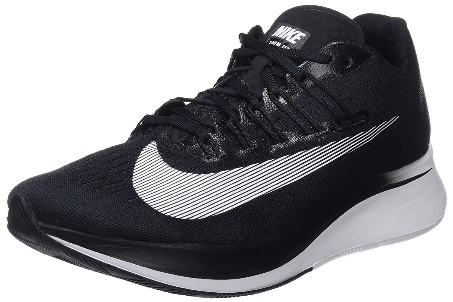 WMNS Zoom Fly B074587BMS 6.5 M US|Black/White
