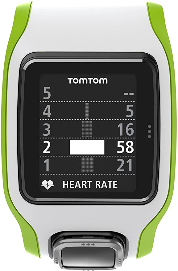 Amazon.com: TomTom Runner Cardio GPS HR Watch - green/white ...