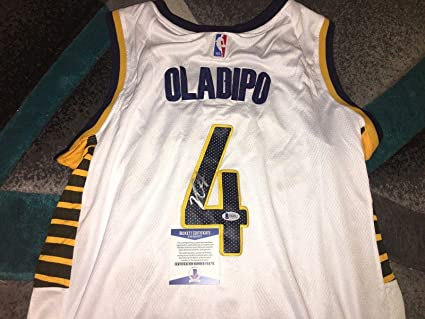 hot sale online d2833 4335c Autographed Victor Oladipo Jersey - Superstar Beckett ...