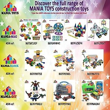 MANIA-BLOCK Bloques de construcción creativos │ 102 pzs XL ...