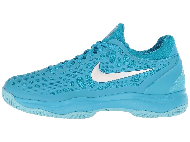 NIKE Women's Zoom Cage 3 Tennis Shoes B0761XWSNV 11 B(M) US|Lt. Blue Fury/Metallic Silver/Neo Turquoise