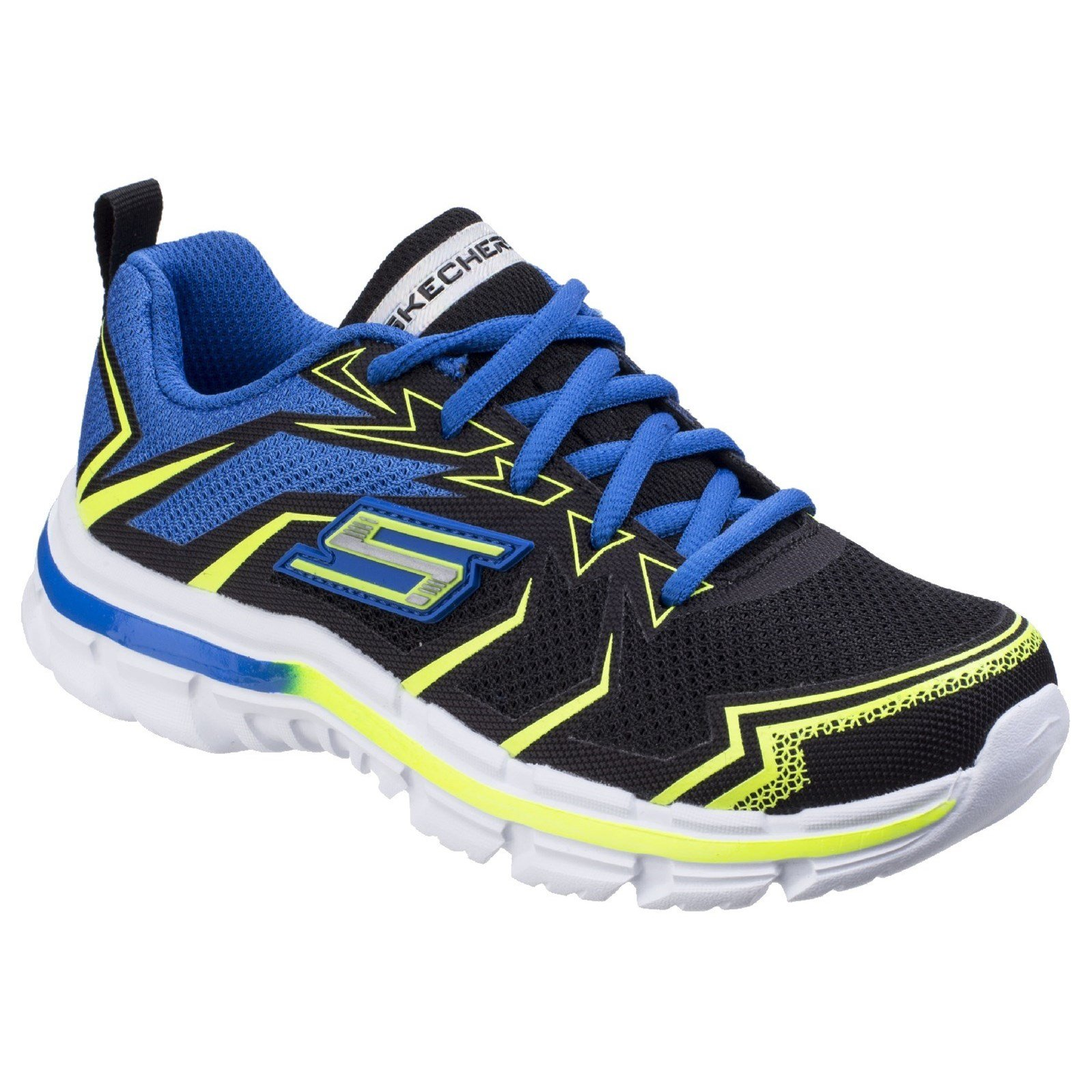 Skechers Childrens Boys SK95356L Nitrate Ultra Blast Sports Shoes/Trainers (Grey/Charcoal, Black/Blue)