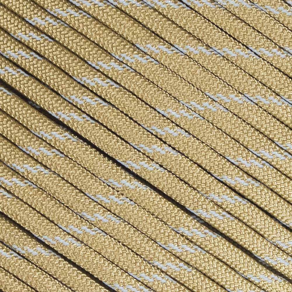 蛍光反射型550 タイプIII ガイライン テントロープ キャンプサバイバルコード 高視認性パラコード 腐敗や紫外線による退色に強い マルチカラー マルチサイズ B06ZYRSJZ1 100 Feet|Reflective Coyote Brown Reflective Coyote Brown 100 Feet