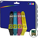 1 Set of XL Ink Cartridges non-OEM Compatible for Epson Expression Home XP-30 XP-102 XP-202 XP-205 XP-212 XP-215 XP-225 XP-302 XP-305 XP-312 XP-315 XP-322 XP-325 XP-402 XP-405 XP-405WH XP-412 XP-415 XP-422 XP-425 Printers E1811-4 Black Cyan Magenta Yellow