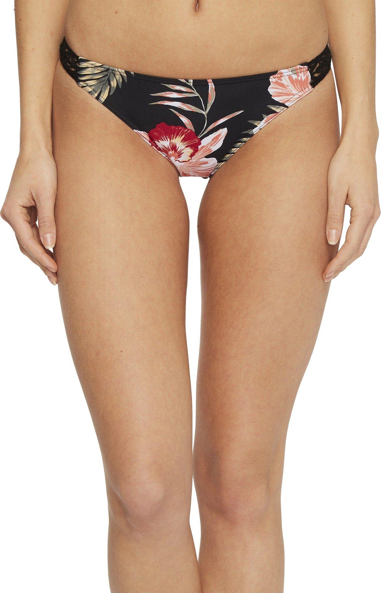 Roxy Junior's Take Me to The Sea Surfer Bikini Bottom, Anthracite Castaway Floral, XS