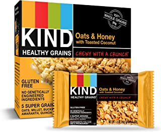 product image for KIND Healthy Grains Bars, Oats & Honey with Toasted Coconut, Gluten Free, 1.2 Ounce, 40 Count