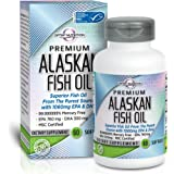 Optim Nutrition Omega 3 Alaskan Fish Oil Pills/Supplements with 1060 mg EPA and DHA, 60 Softgels
