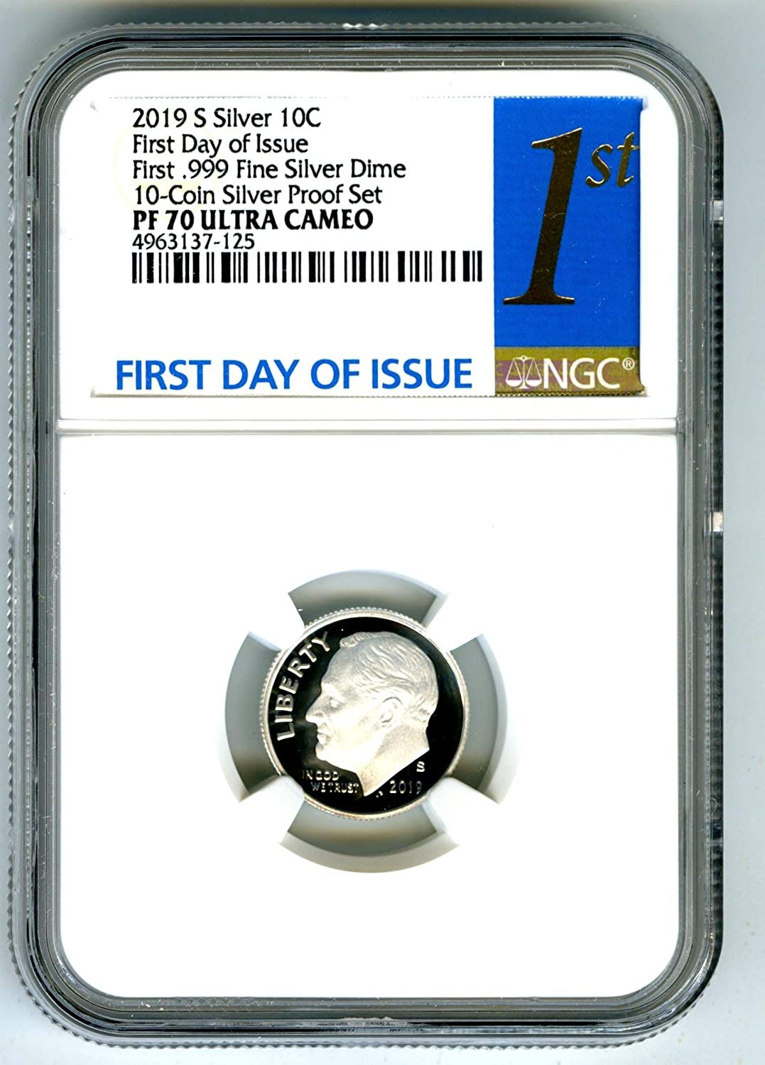 NGC PF70 UCAM First Day Issue 1st Label 2019-W American Silver Eagle Proof