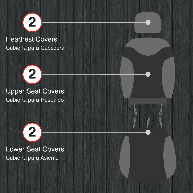Pilot Automotive SC-558-2 Black Carbon Seat Cover