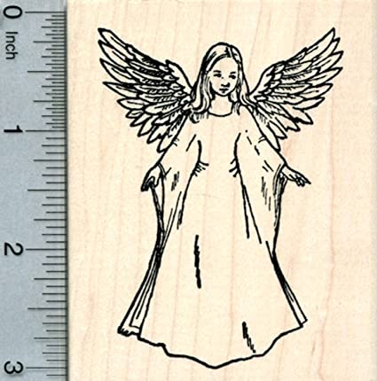 Amazon Angel Rubber Stamp Arts Crafts Sewing