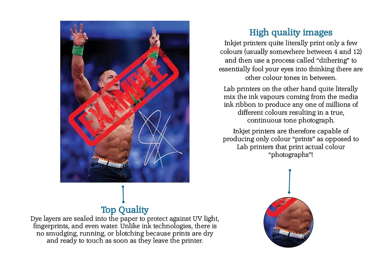 Qualit/é professionnelle 25,4/x/20,3/cm Photo imprim/ée d/édicac/ée de Cristiano Ronaldo