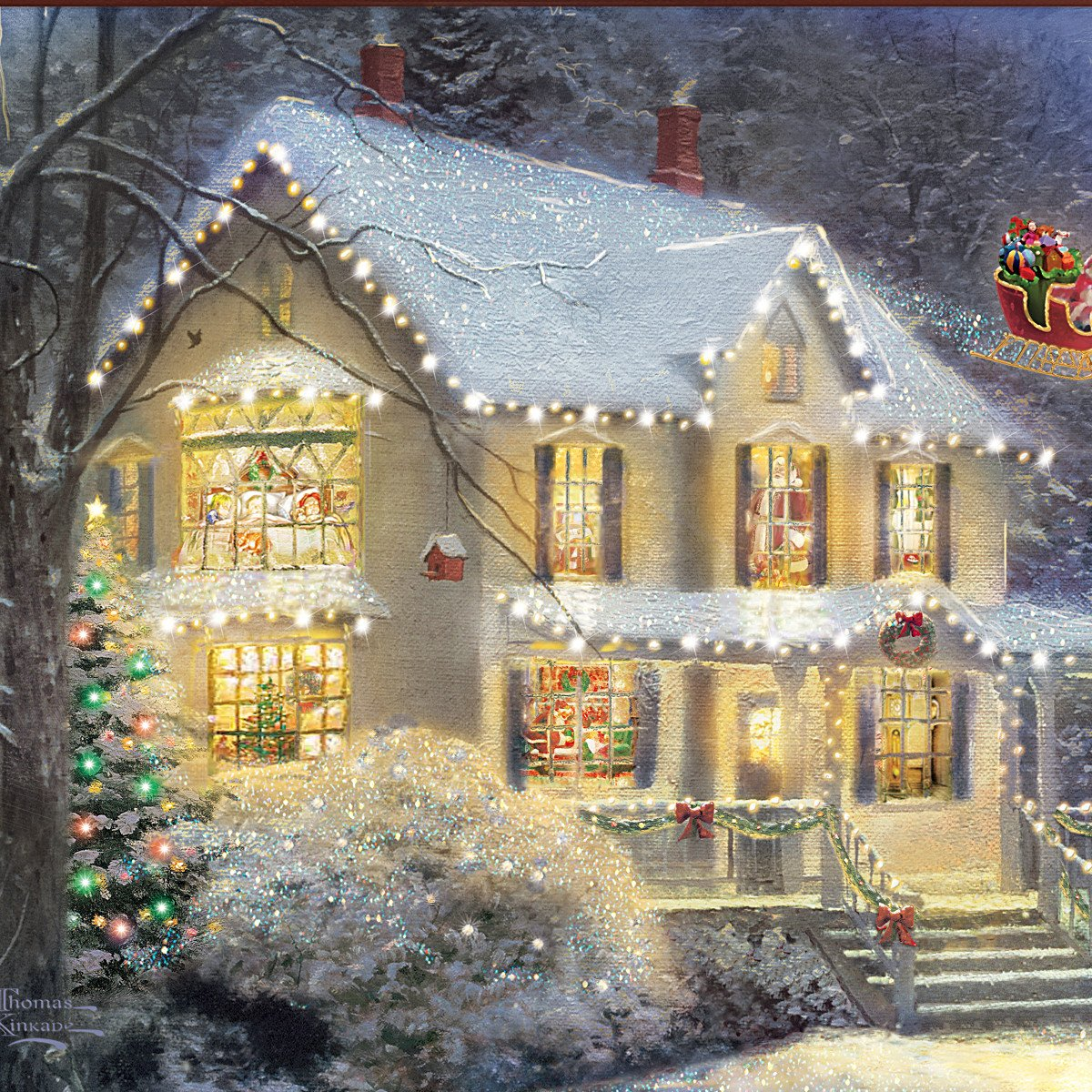 Amazon.com: Thomas Kinkade The Night Before Christmas Illuminated ...