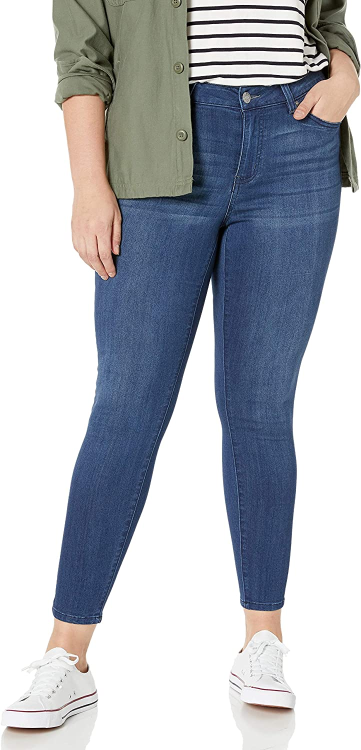 Celebrity Pink Jeans Women S Plus Size Infinite Stretch Mid Rise Skinny Jeans At Amazon Women S Jeans Store