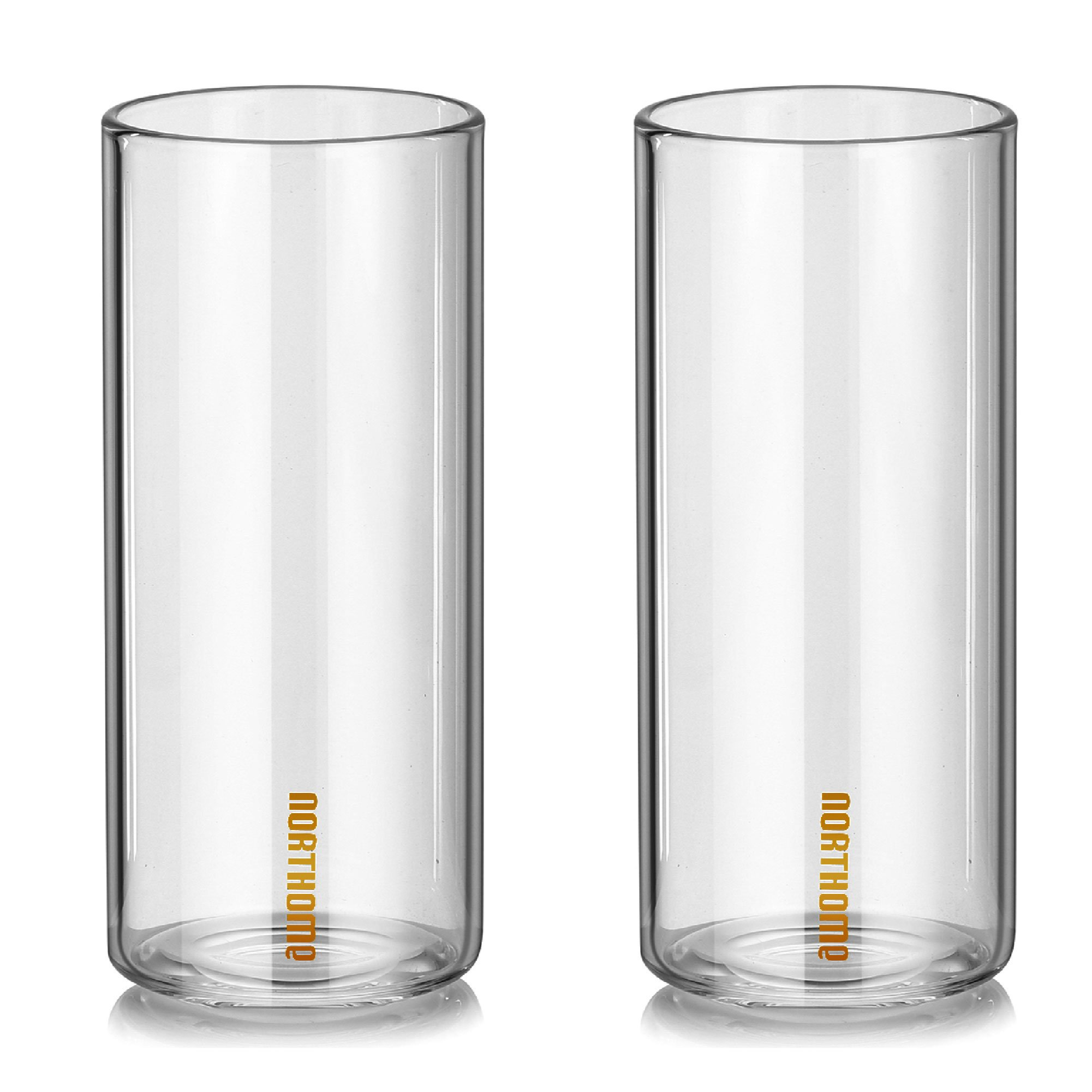 NORTHOME cool drinking glasses sets(two-piece)custom drinking glasses simple style hospitality drinking glasses