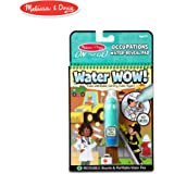 Melissa & Doug On The Go Water Wow! Occupations Reusable Water-Reveal Activity Pad, Chunky-Size Water Pen
