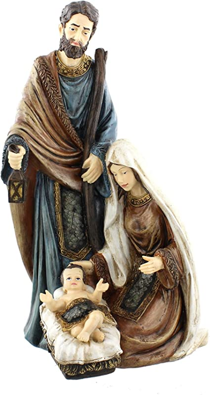 Winter Wonderland Classic Nativity Scene Mary Joseph Baby Jesus Figurine Juliana Collection Amazon Co Uk Kitchen Home