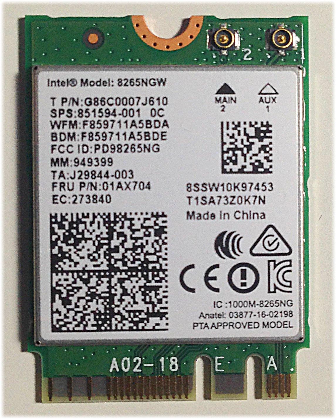 Mini Pcie Intel Dual Band Wireless-ac 8265 Con Bluetooth