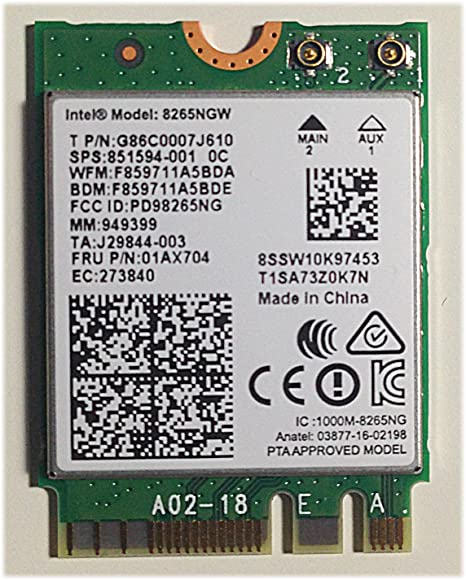 Intel ® Dual Band Wireless-AC 8265 - Módem