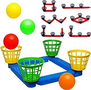 alles-meine.de GmbH 2 Set´s _ Wurfspiele - Ballwurfspiel - umbauen + erweitern - inkl. Name - aus Kunststoff / Plastik - incl. Bälle + Fangkörbe - Innen & Außen - Wurfkreuz - Out..