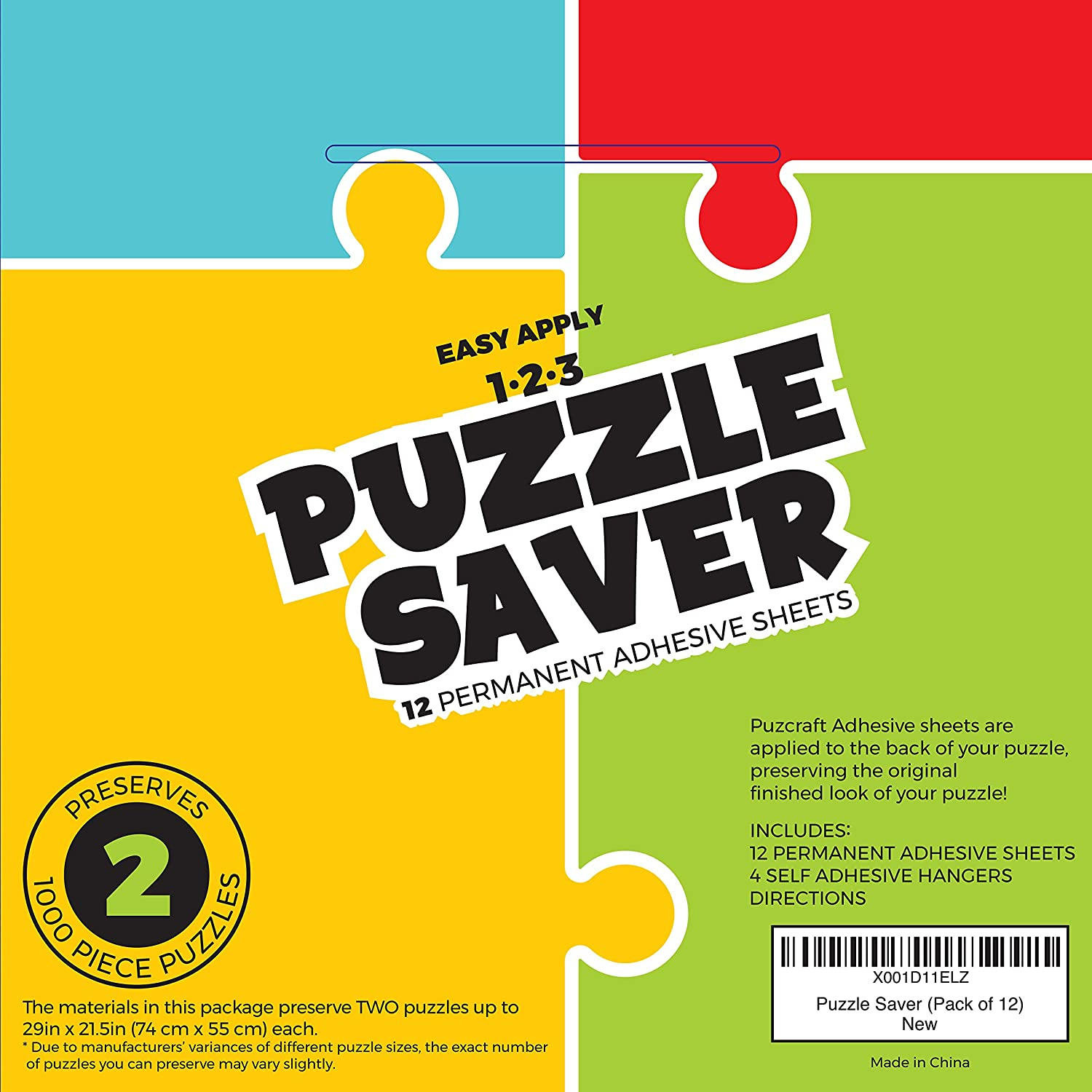 Amazon.com: Puzcraft Puzzle Saver Adhesive Sheets (12-Pack) Easiest ...