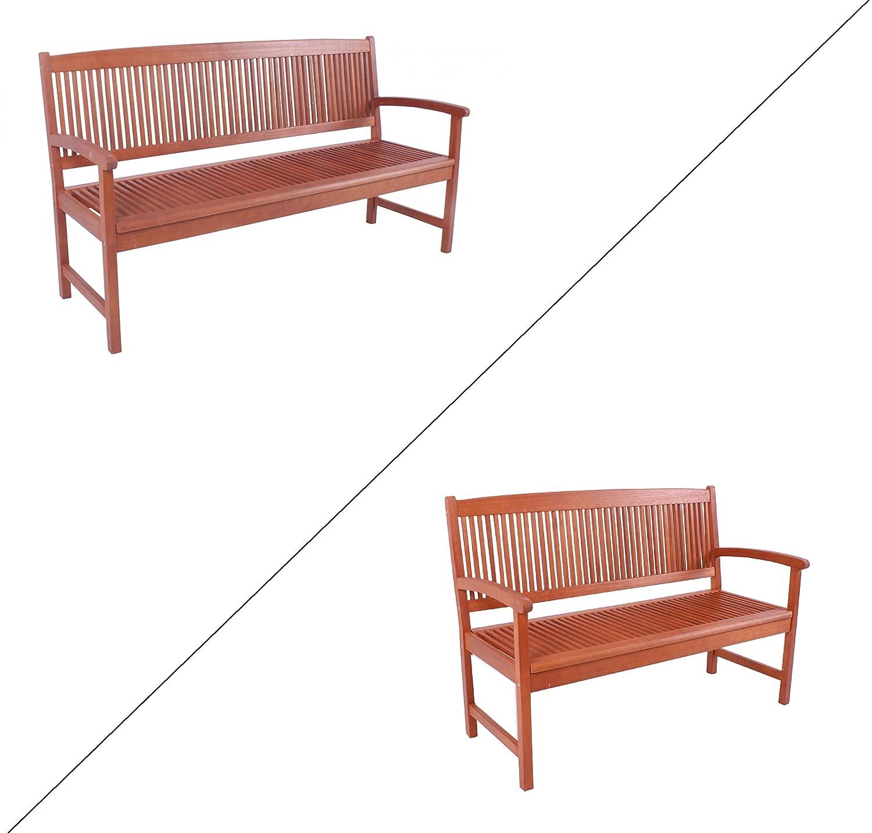 Benelando 2- / 3-Sitzer Gartenbank aus Eukalyptusholz (3-Sitzer)