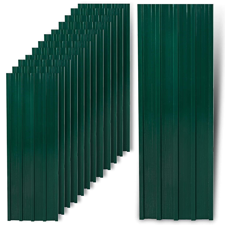12 pieza Chapa trapezoidal, chapa de perfil, chapa de metal, Techo Chapa, chapa de acero, Techo, placas, Verde: Amazon.es: Bricolaje y herramientas