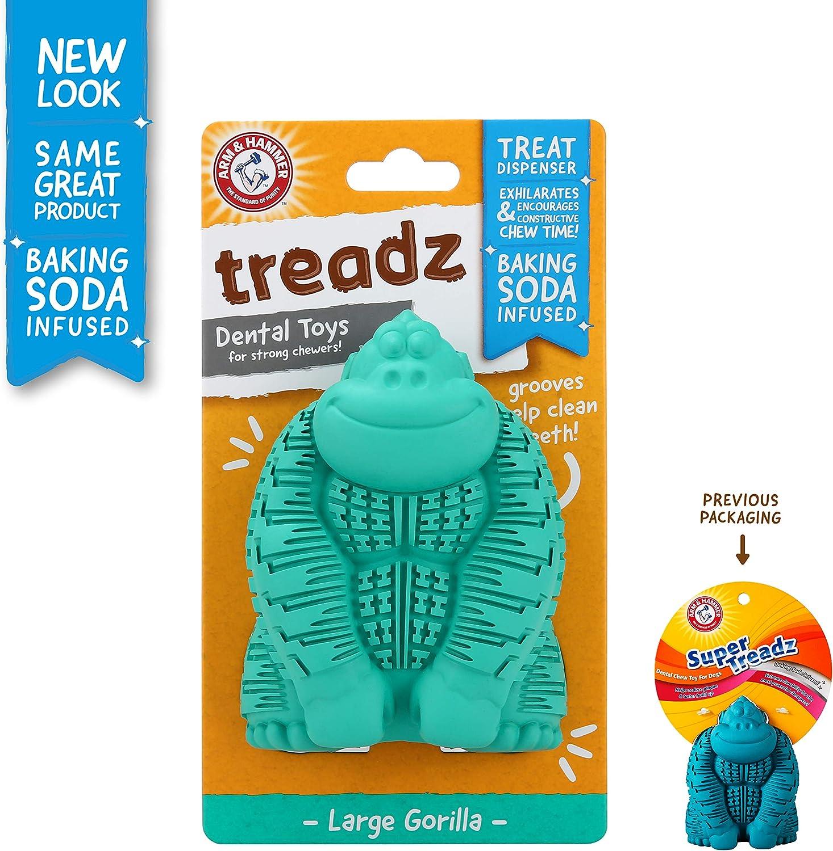 Arm & Hammer Super Treadz Gorilla and Gator Dental Chew Toys for Dogs