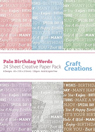 24 Sheets A5 155mm X 215mm Birthday Messages Greeting Wishes