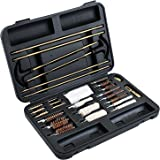 Universal Gun Cleaning Kit - 32 Pieces Brass Tips and Jags to Avoid Broken Plastic Pieces Inside Your Gun - Perfect for Hand Guns, Rifles and Shotguns