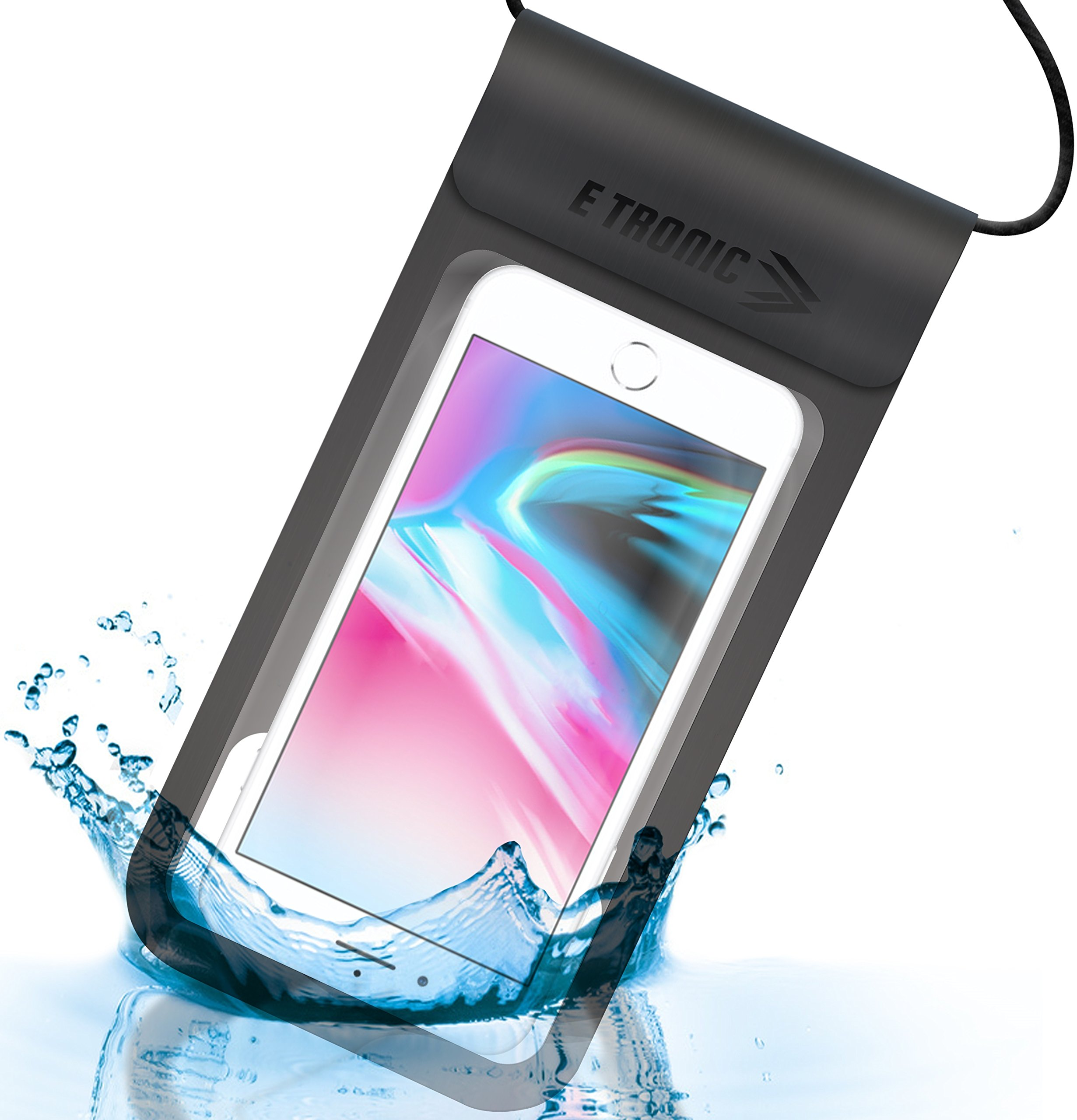 Waterproof Phone Case: Best UNIVERSAL Cellphone Dry Bag Water Proof Pouch. Clear Cover Underwater Cases Holder Bags for All Cell Phones. iPhone Plus X 8 7 6 6S & Galaxy S9 S8 S7 S6 & Google Pixel etc