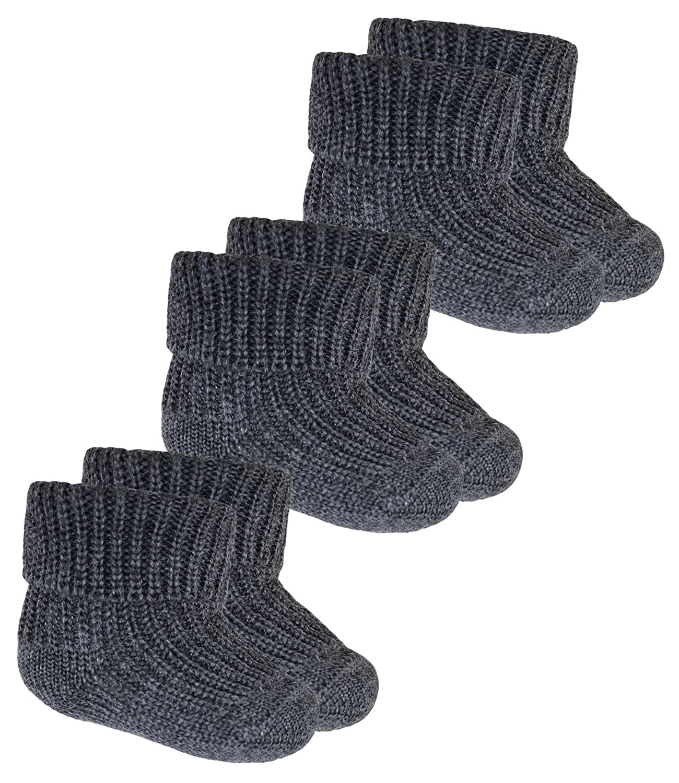 EveryKid Ewers 1er, 2er oder 3er Pack Babysöckchen Jungensöckchen Wollsöckchen Socken Strümpfe Markensöckchen reine Wolle für Babys (EW-25587-S18-BJ0) inkl Fashionguide