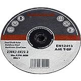 Arebos 4260199751442 Lot de 25 Meules à tronçonner en acier inox 230 mm