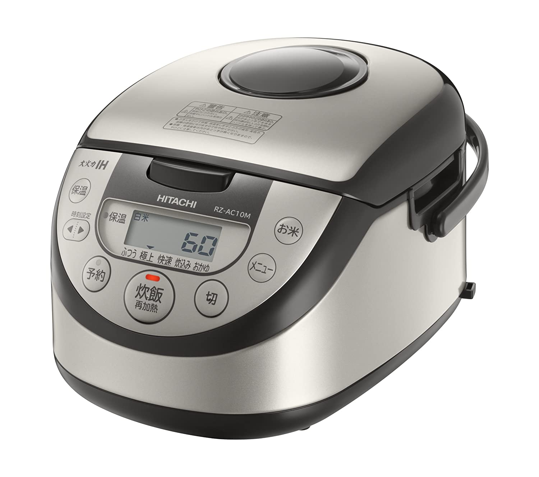 日立 炊飯器 5.5合 IH式 [調理コース]搭載  内釜カーボンフッ素6年保証 RZ-AC10M S   B079S791YF