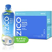 Deals on 12-Pack ZICO Natural 100% Coconut Water Drink 16.9 fl oz