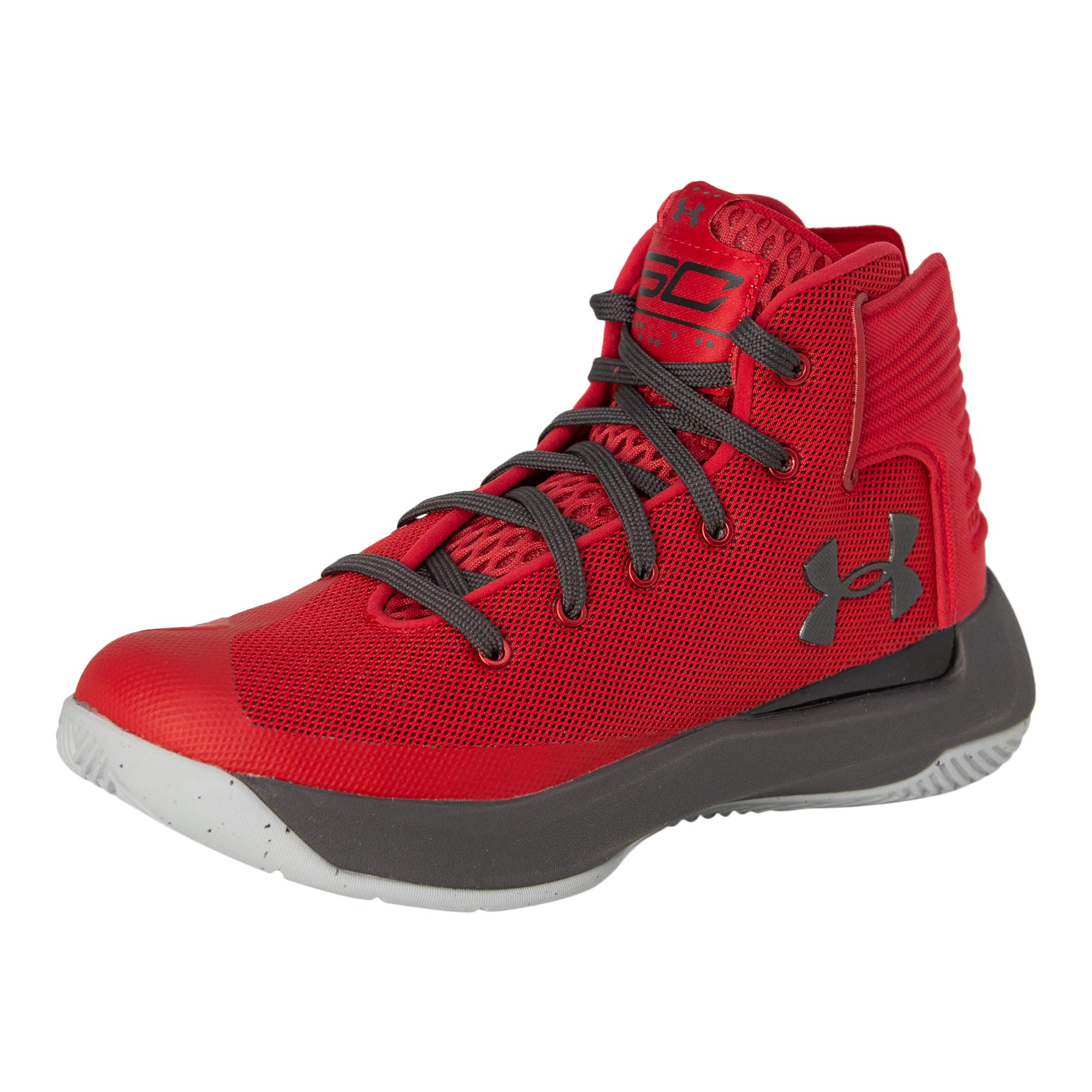 Under Armour Kids Boy's UA GS Curry 3ZERO Basketball (Red/Steel/Black, 4.5 M US Big Kid)