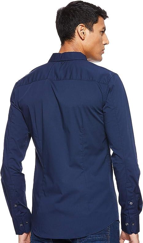 Tommy Jeans Herren Original Stretch Langarm Slim Fit Freizeithemd