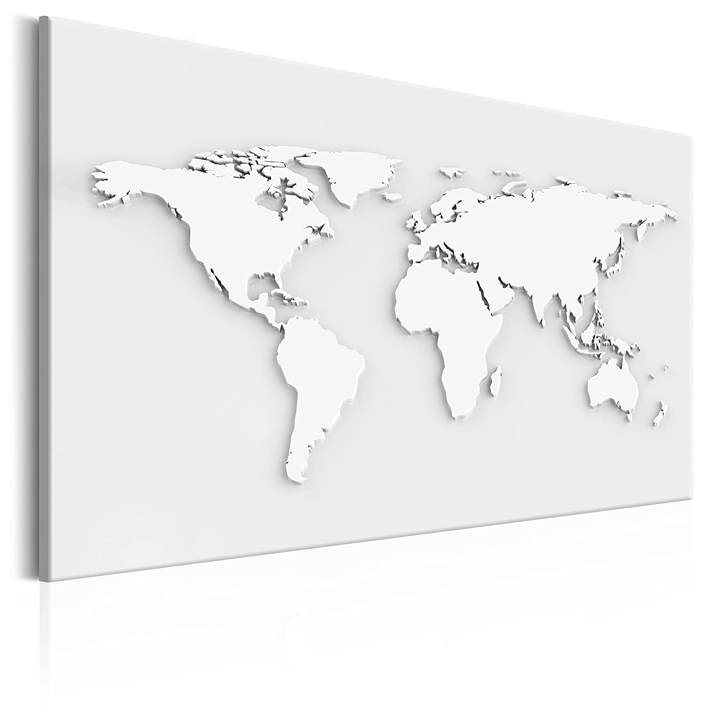 Poster Weltkarte Kontinente Welt Karte Holz k-B-0009-b-b murando Bilder 60x40 cm Vlies Leinwandbild 1 TLG Kunstdruck modern Wandbilder XXL Wanddekoration Design Wand Bild