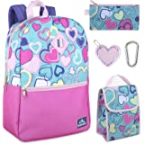 5 in 1 Backpack with Lunch Bag Set for Girls, Backpack and Lunch Box Set Elementary