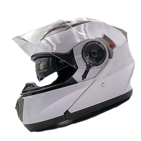 X Gro/ß,Wei/ß) NENKI Klapphelm Integralhelm Motorradhelm NK-860 mit sonnenblende
