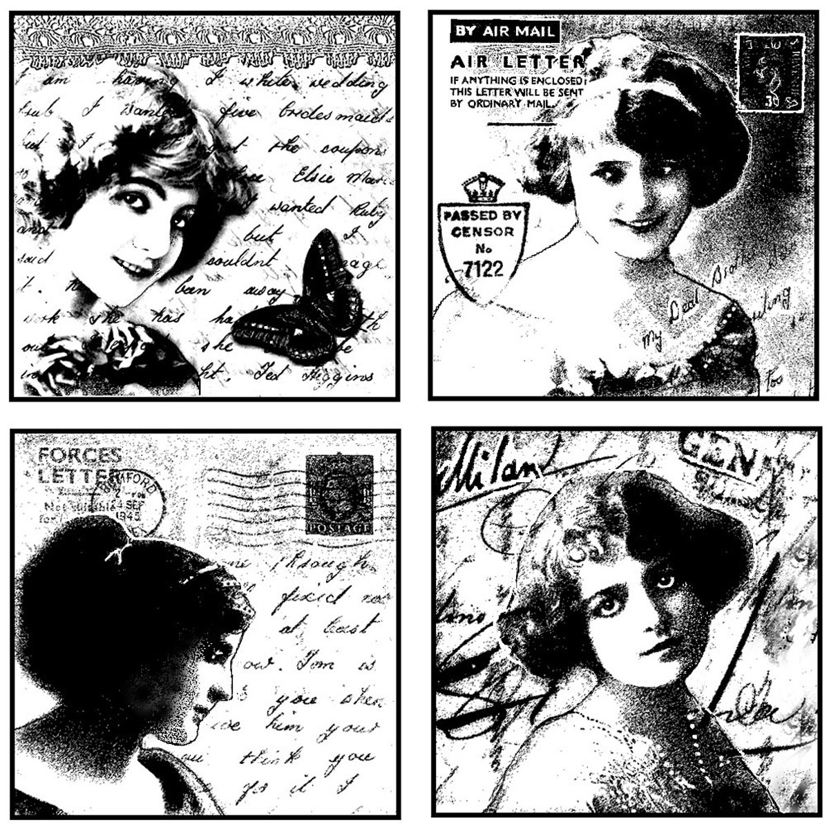 Crafty Individuals Unmounted Rubber Stamp 4.75X7 Pkg-Love Letter Ladies CI-065