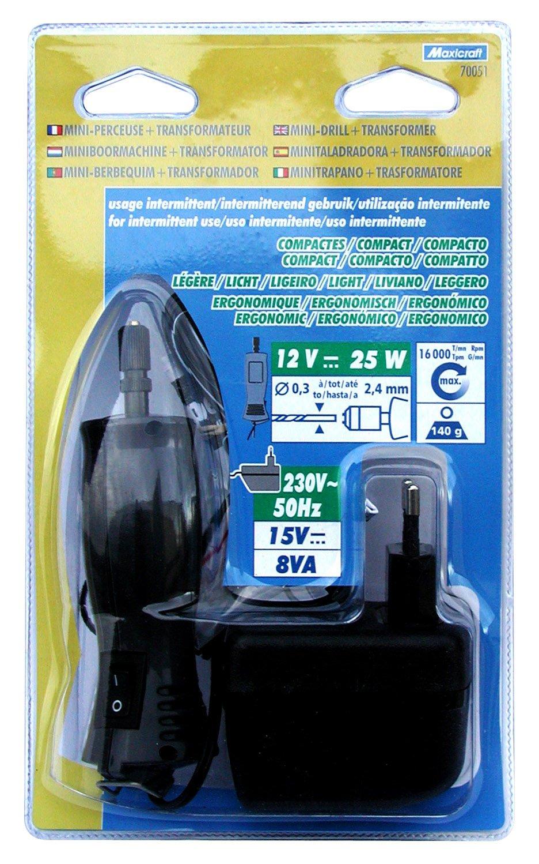 Maxicraft 70051 20000 Perceuse de pré cision avec transformateur 12 V/25 W