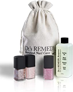 product image for Dr.'s REMEDY Enriched Nail Polish, SMART START Pink Kit With Free Remedy Remover and Signature Jute Bag, 5.7 Fluid Ounce